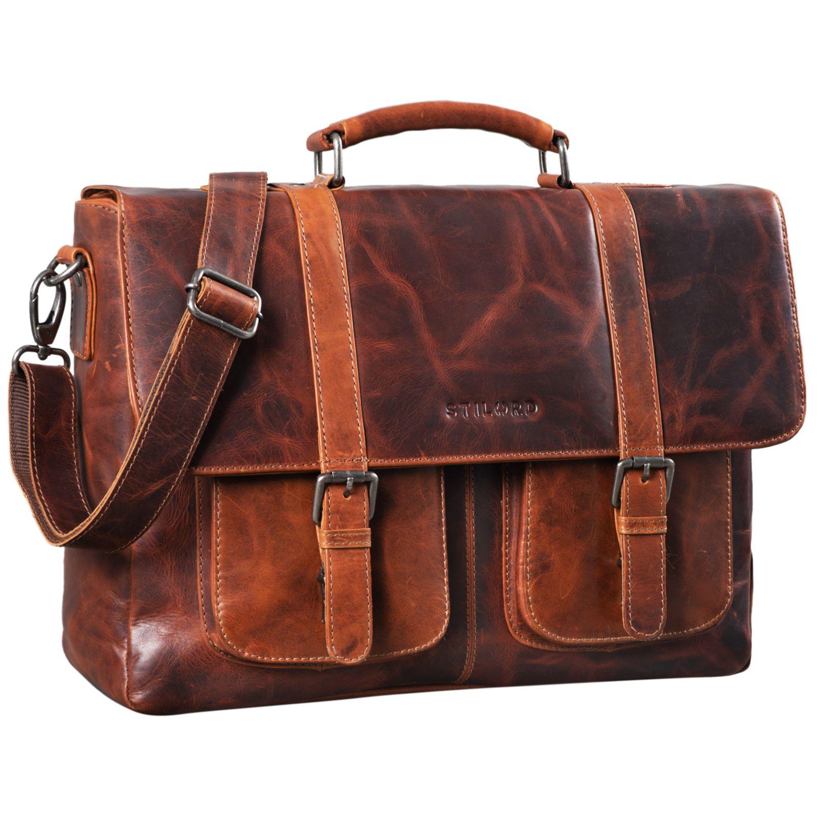 cartable cuir vintage Stilord Pontius
